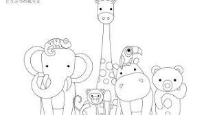 動物の塗り絵 折り紙japan