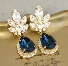 blue navy chandelier earrings bridal navy blue earrings dangle earrings midnight blue earrings swarovski dangle earrings blue drop earrings 2501639