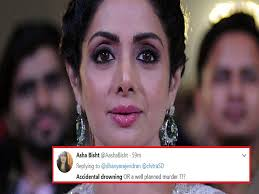 sri devi d due to accidental drowning fans took on twitter to say its a