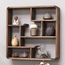 wall shelf wall decoration solid wood
