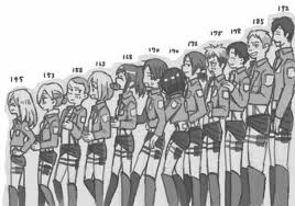 Noragami Height Chart Height Chart Of The 14th Trainee Squad Attack On Titan