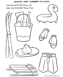 Winter coloring sheets - Winter/Summer Picture Puzzle | Educational ...