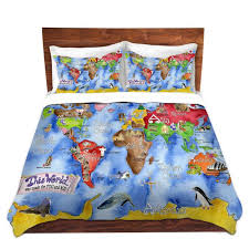 cool funky bed pillow shams standard and king marley ungaro this world royal blue bedding