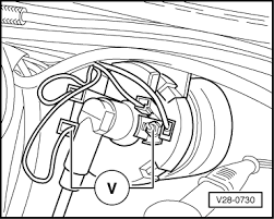 volkswagen workshop manuals > golf mk1 > power unit > k jetronic connect hand multimeter auxiliary cables between 1 and terminal 15 on ignition coil