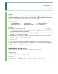 resume for financial advisor resume for financial advisor makemoney alex tk