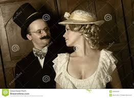 couple in 19th century garment w in dominant role stock couple in 19th century garment w in dominant role
