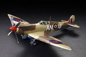 spitfire model plane. tamiya supermarine spitfire mk.viii -- plastic model military airplane kit 1 plane