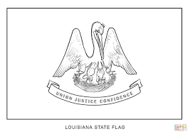Small Picture Flag of Louisiana coloring page Free Printable Coloring Pages