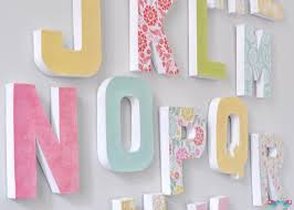 clever ideas large letter wall decor extra decal wooden a g f