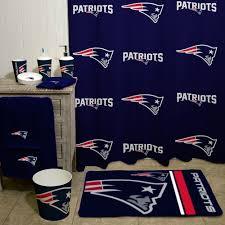 Sports Bathroom Accessories Nfl New England Patriots Decorative Bath Collection Shower