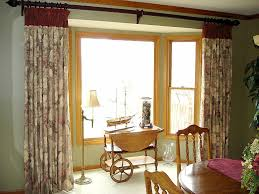 Decorations:Natural Creative Green Bay Window Curtain Treatment Idea  Elegant And Creative Window Treatments Design