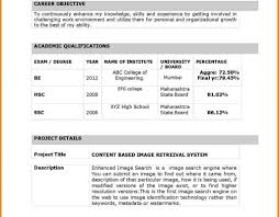 Resume Samples For Freshers Mechanical Engineers Free Download Latest Resume Format Forshers In India Electronics And 67