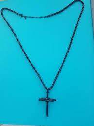 men s stainless steel rope nail cross
