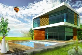 modern houses architecture. Delighful Modern Modern House Rendering On Houses Architecture
