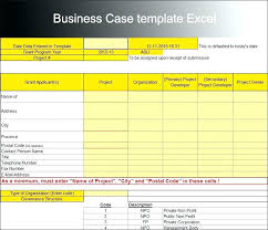 Simple Business Case Templates Sample Project Plan Showing The Business Case Template Excel Monster