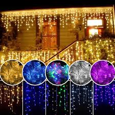 Christmas Garland <b>LED</b> Curtain <b>Icicle</b> String Light 220V 4.5m ...