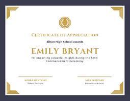 Certificate Of Appreciation Sample Template 9 Blank Invoice