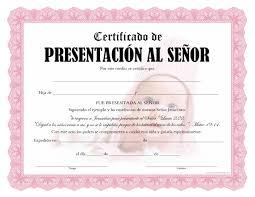 Certificado De Bautismo Template