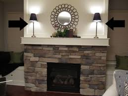 fireplace mantel lighting. Home Interior: Edge Fireplace Mantel Lamps Lamp 9 How To Decorate A With From Lighting C