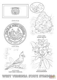 Small Picture West Virginia State Symbols coloring page Free Printable