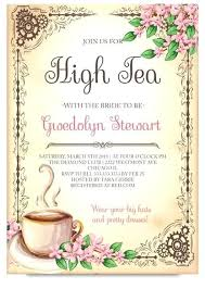 Tea Party Invitations Free Template Invitation For Tea Party Bahiacruiser