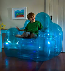 inflatable furniture. Amazon.com: Light-Up Inflatable Blue Aurora Blow Up Lounge Chair - Oversized Vinyl Waterproof Kids Bedroom Furniture 50 L X 40 W 46 H: Kitchen \u0026