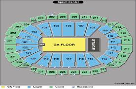 Sprint Arena Kansas City Seating Chart Select The Right Seat At Sprint Center Sprint Center