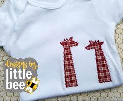Little Boy Applique Designs Giraffe Zigzag Raggy Applique Peeker