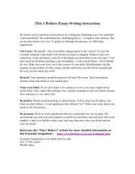 thematic essay belief systems this i believe essay writing instructions