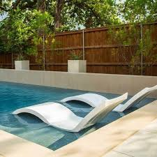 In pool furniture Residential Sr Smith Signature Inpool Chaise Ledge Lounger