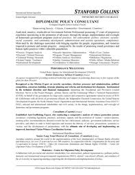 Diplomatic Policy Consultant Resume