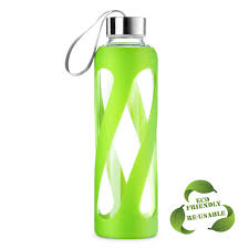 borosilicate 20 oz glass water bottle with silicone sleeve only 7 50 reg 21 99