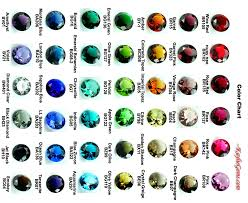 Supplies Glass Jewels Color Chart