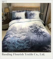 eco friendly wedding luxury 4pcs 100 cotton super king size big flower cotton bedding set