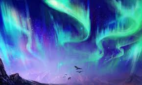 northern lights sdpainting by exileden