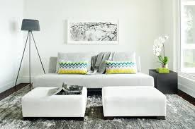 white living room furniture small. furniture small living room with white sofa and cushion modern lamp