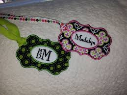 In The Hoop Luggage Tag Designs Luggage Tags Using Design From Delightfully Feminine