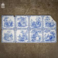 Blue And White Decorative Tiles Set of 6000 Original Blue and White Decorative 600x600 Tiles 25