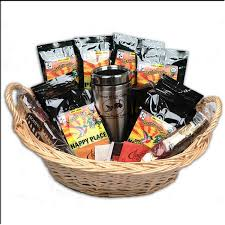 hand crafted tea and coffee gift basket with gourmet biscotti cookieore