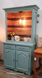 Bar hutch hutch with wine fridge and cubbies. This Hutch Turned Into A Coffee Bar Is Steves Knot Board Facebook