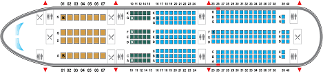 787 Dreamliner Seating Chart Seat Map Boeing 787
