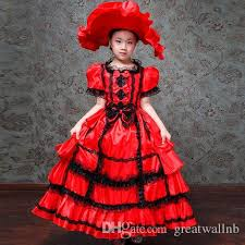 Superior Freeship Childrenu0027S Girls Luxury Beading Rococo Ruffled Beading Medieval  Red/Champagne Embroidery Stage Costume Renaissance Gown Dress Halloween  Theme Pet ...