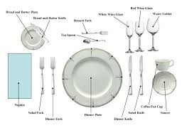 Place Setting Chart THE DINNER PARTY Pinterest Place Setting - Dining room etiquette