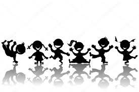 Sagome Di Bambini Stilizzati Foto Stock Hibrida13 7310586