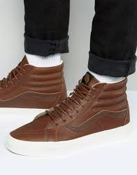 vette vans sk8 hi reissue in brown va2xsblyw