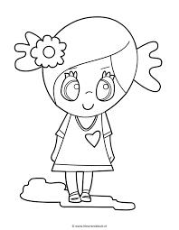 Meisje Met Bloem Flower Girl Kleuren Is Leuk