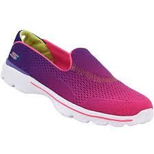 skechers shoes go walk. skechers gowalk 3 life style shoes - girls purple go walk