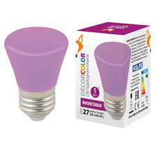 <b>Лампа</b> светодиодная <b>LED</b>-<b>D45</b>-<b>1W</b>/<b>PURPLE</b>/<b>E27</b>/<b>FR/С</b> BELL ...