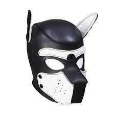 hot deal us 22 52 for new y women girls cosplay mask puppy masks master servant sm role play lady rubber helmet latex dog mask 2019