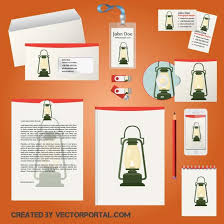 Office Stationery Design Templates Office Document Template Free Vector Image In Ai And Eps